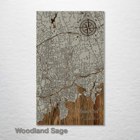 Stamford, Connecticut Street Map - Fire & Pine