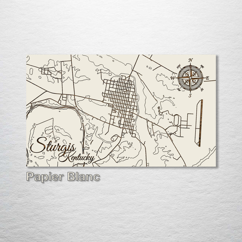 Sturgis, Kentucky Street Map - Fire & Pine