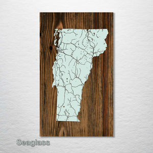 Vermont Isolated Map - Fire & Pine