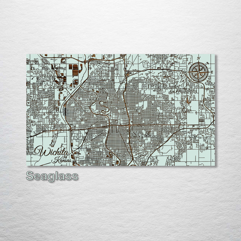 Wichita, Kansas Street Map - Fire & Pine