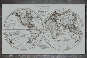 World Map 1795 - Fire & Pine