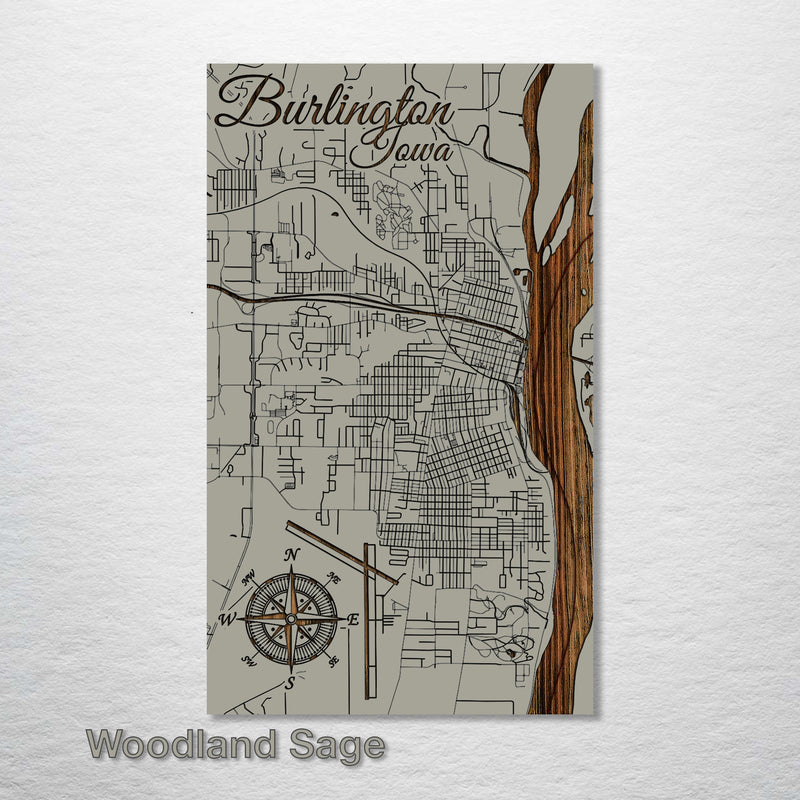 Burlington, Iowa Street Map