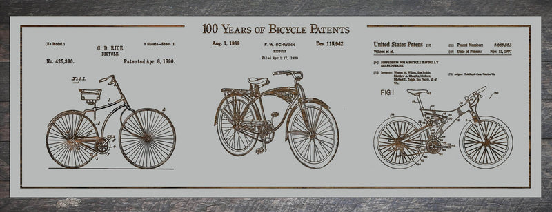 100 Years of Bicycle Patents - Fire & Pine