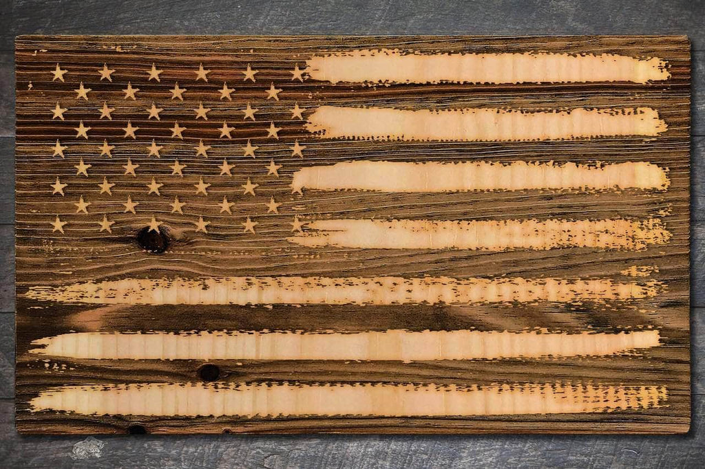 American Flag - Fire & Pine