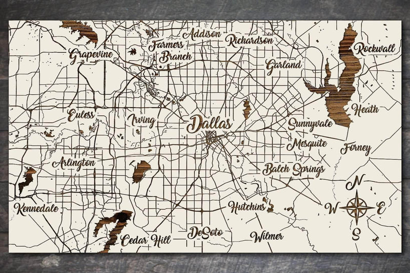 Dallas, Texas Whimsical - Fire & Pine