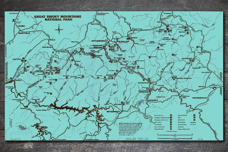 Great Smoky Mountains Map 1980 - Fire & Pine