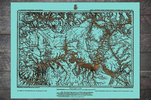 Parts of Northern and North Western Arizona and Southern Utah 1873 - Fire & Pine