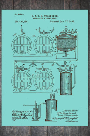 Fire & Pine Patent Process of Making Beer 1893 PB016-MI-IS