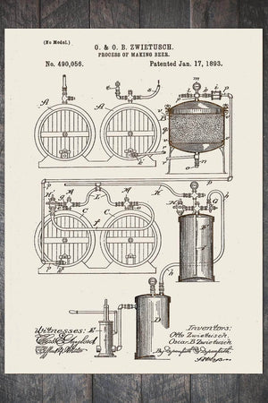 Fire & Pine Patent Process of Making Beer 1893 PB016-MI-PB