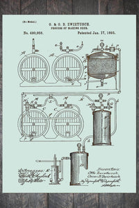 Fire & Pine Patent Process of Making Beer 1893 PB016-MI-SE