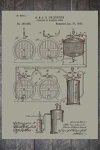 Fire & Pine Patent Process of Making Beer 1893 PB016-MI-WS