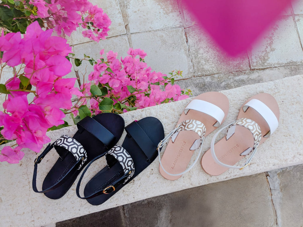 Alasia Lifestyle x MISCHA Collaboration Sandals Limited Edition Classic Black & Champagne