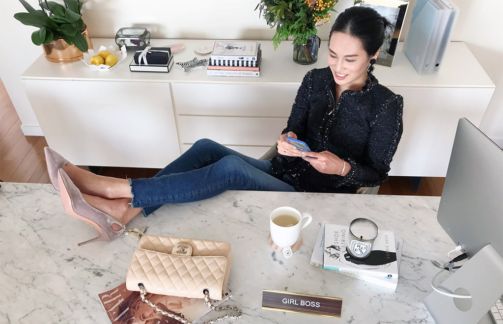 Up close with Angelina Yao Heels and Yield financial education; Mischa blog interview