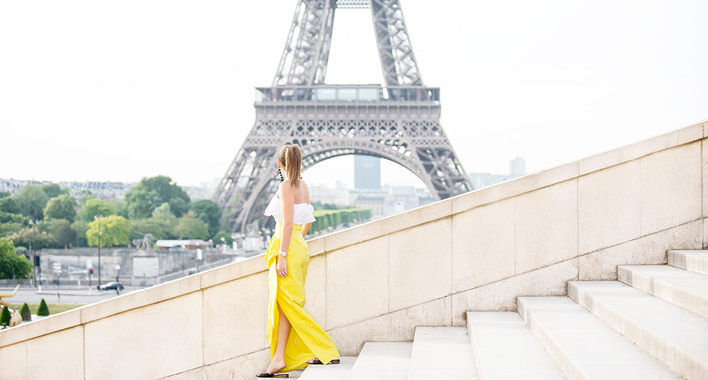 a woman overlooking the stairs, Eiffel Tower, Paris ; mischa blog