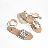 Alasia Lifestyle Nissi Gladiators - Metallic Gold