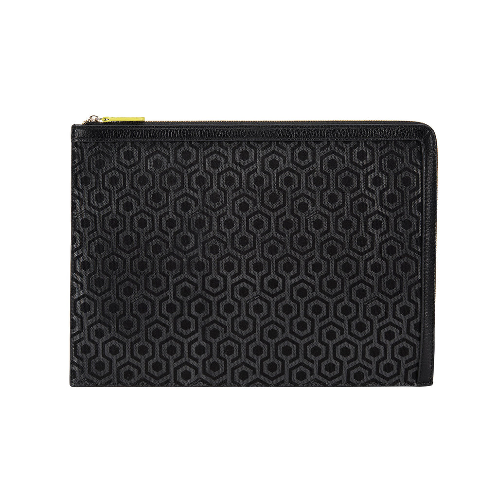 Mischa A4 Folio Pouch Charcoal