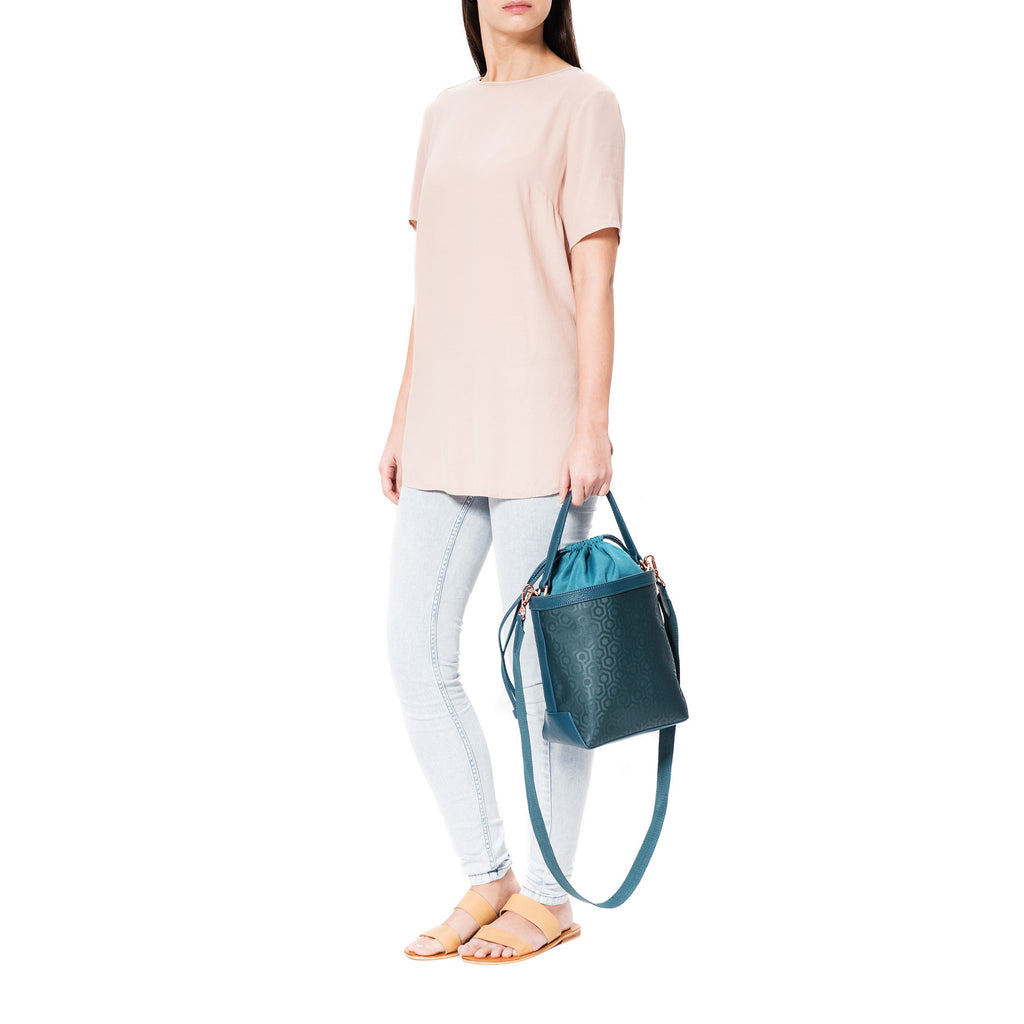 Mischa Bucket Bag - Fern (model shot)
