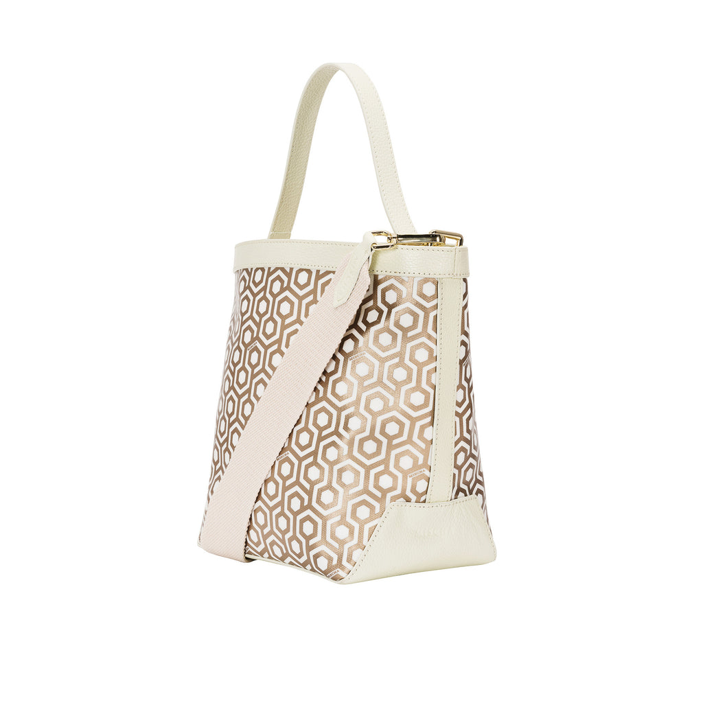 Mischa Bucket Bag - Champagne (side)