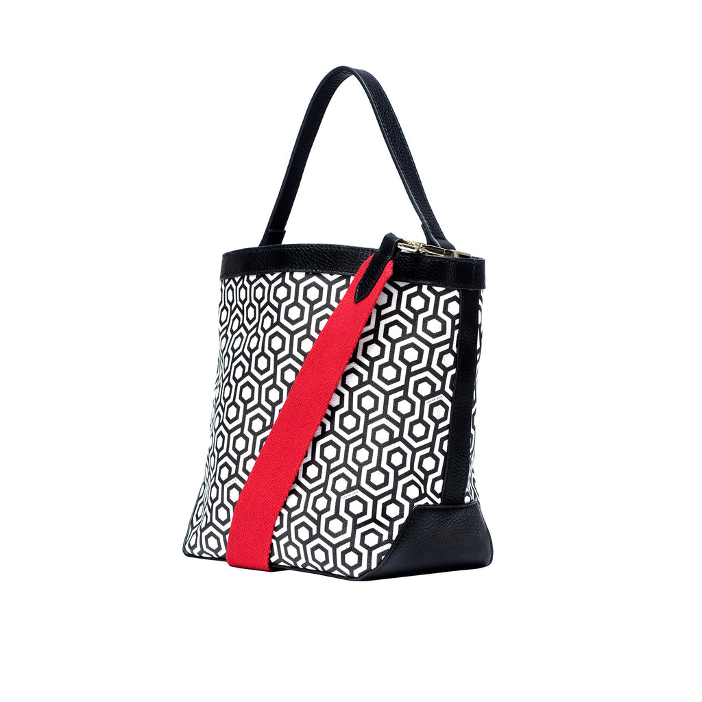 Mischa Bucket Bag - Classic Black (Side)