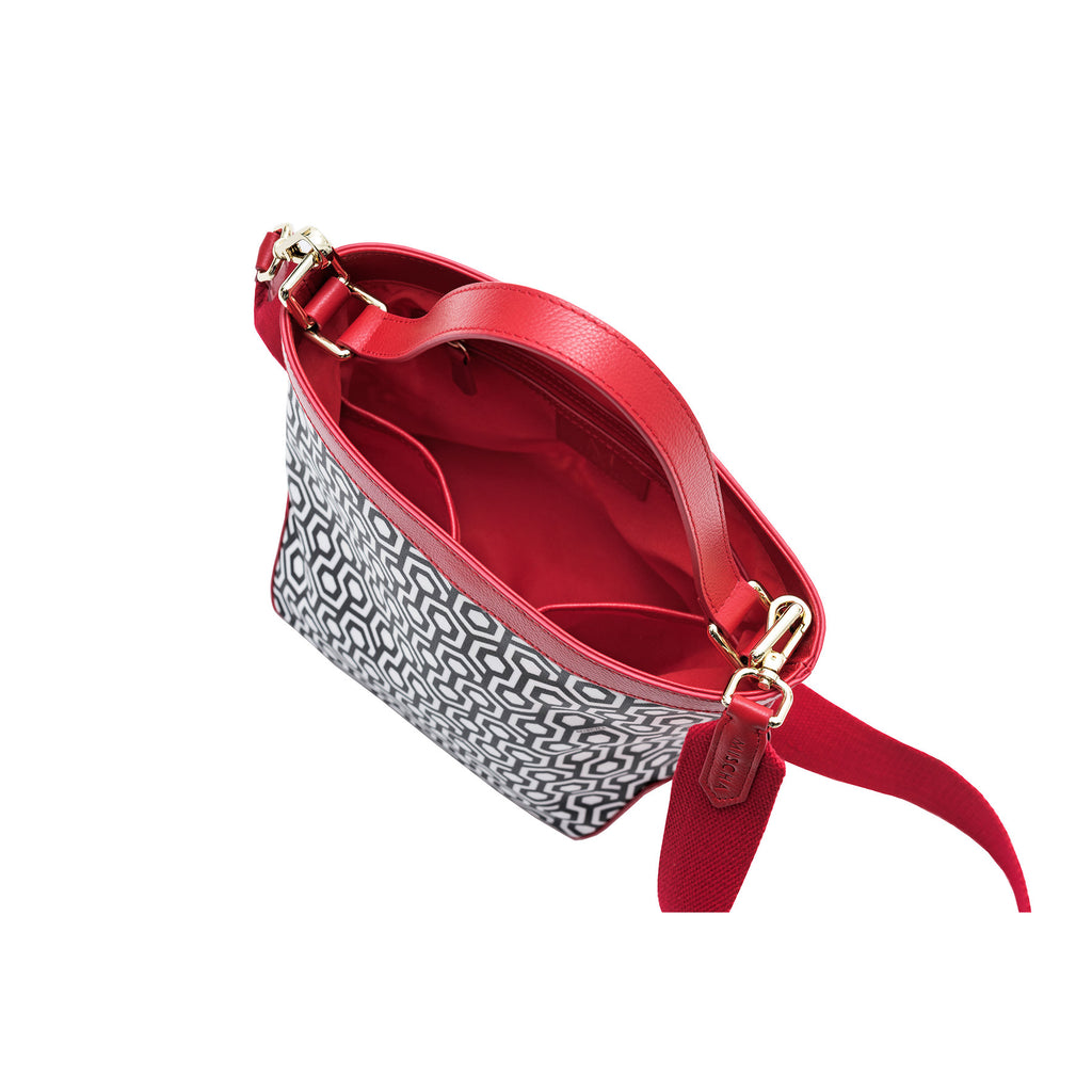 Mischa Bucket Bag - Classic Red (top)