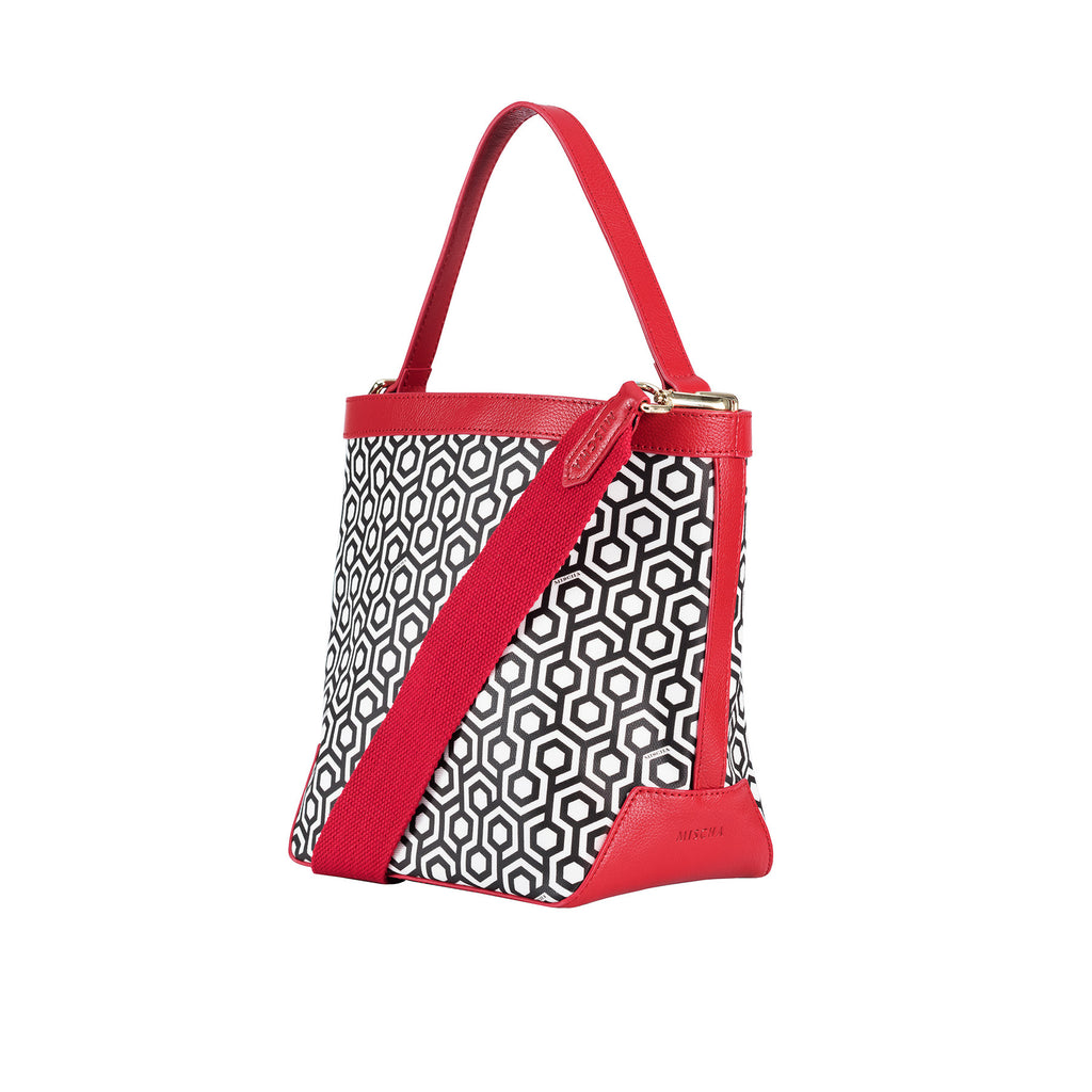Mischa Bucket Bag - Classic Red (side)