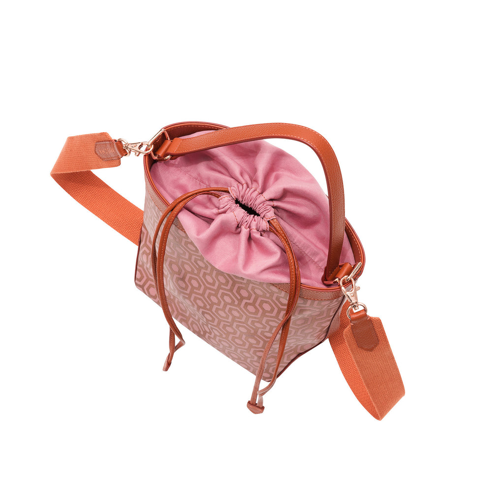 Mischa Bucket Bag - Rose (top closed)