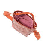 Mischa Bucket Bag - Rose (top open)