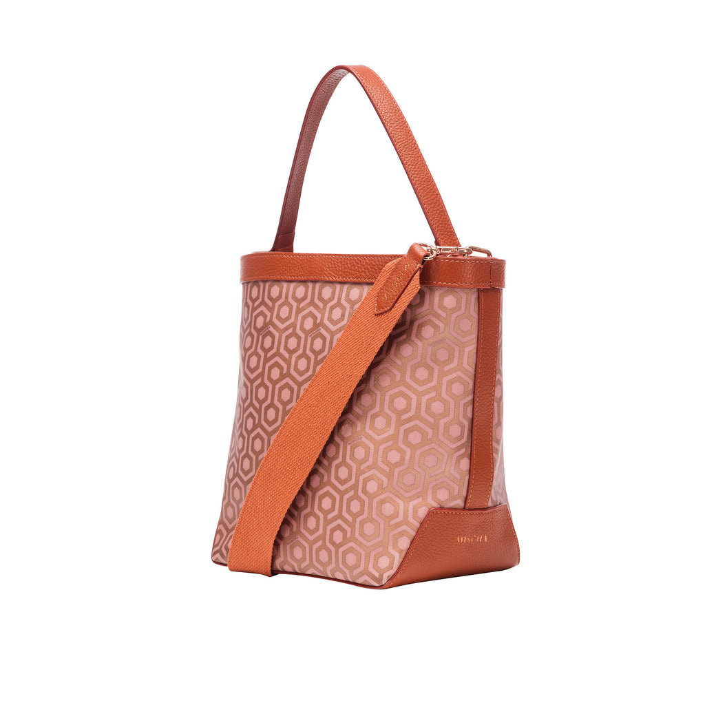 Mischa Bucket Bag - Rose (side)