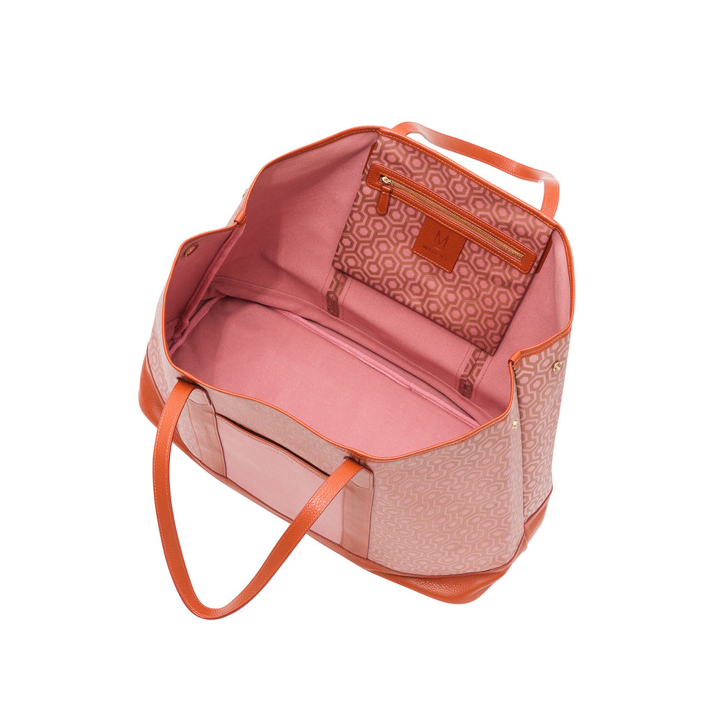 Mischa Bucket Tote - Rose (open)