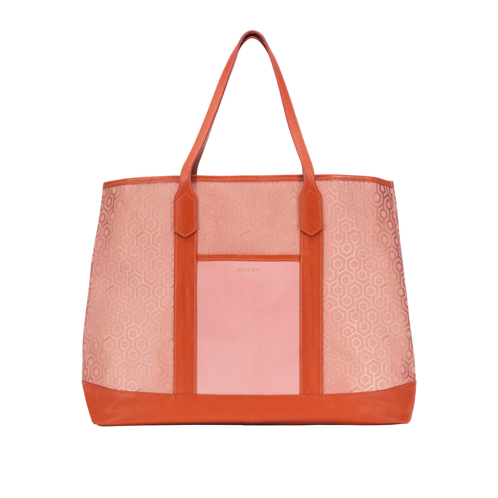 Mischa Bucket Tote - Rose (back)