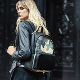 Mischa Backpack - Camo Green (Model Shot)