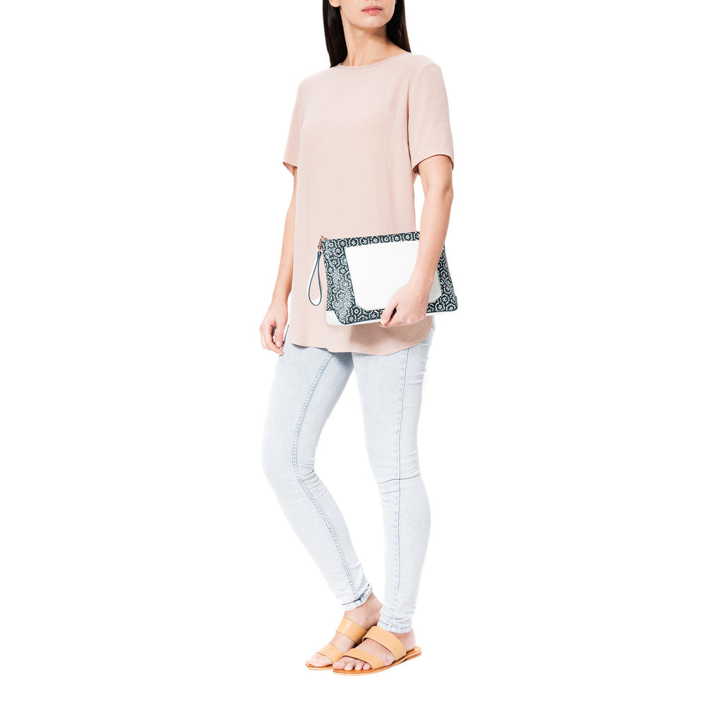 Mischa Crossbody Clutch - Palm (without strap)