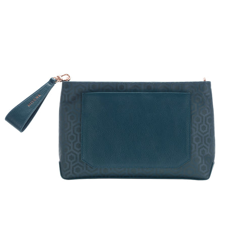 Leather Folio Pouch - Stone