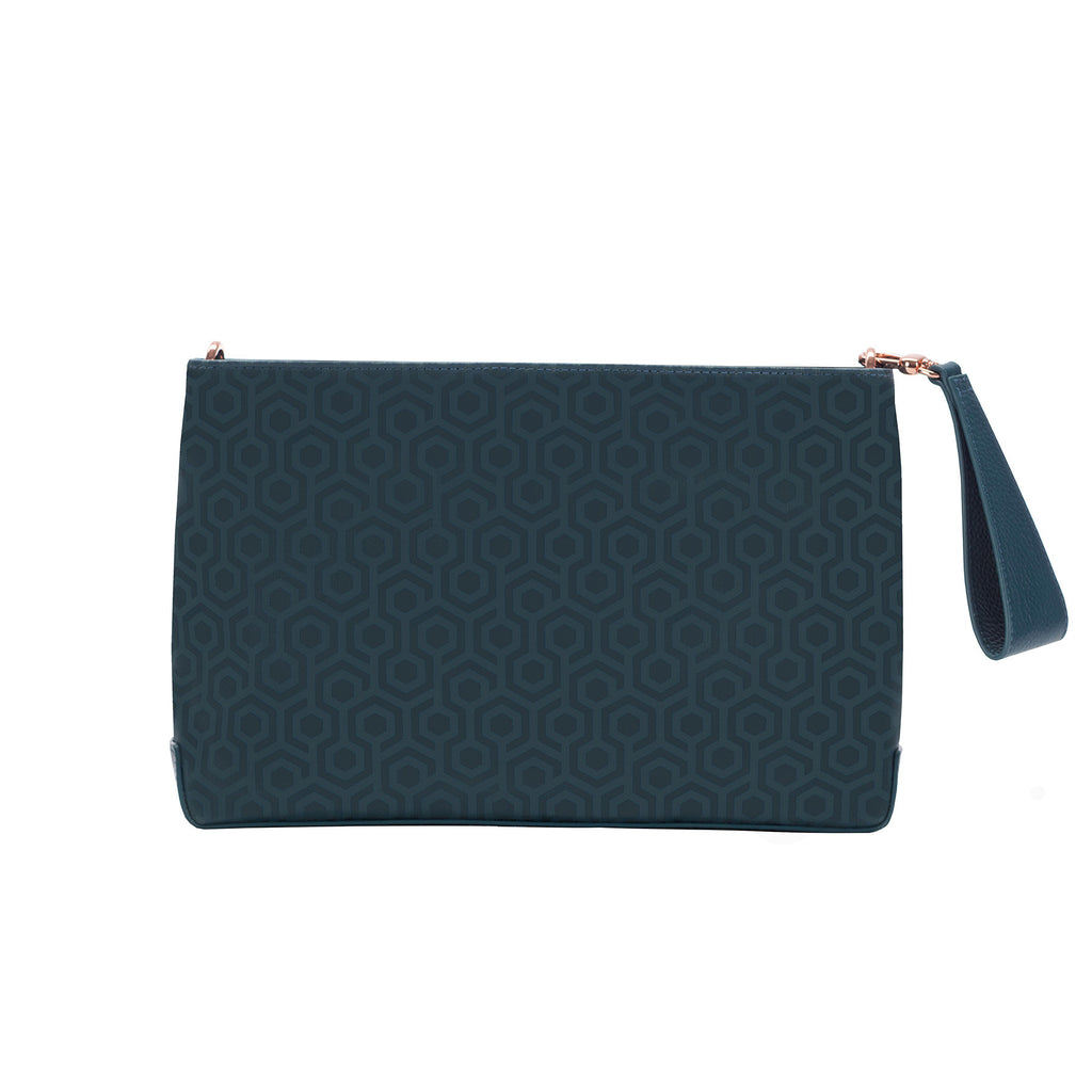 Mischa Crossbody Clutch - Fern (back)