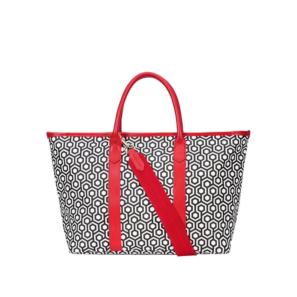 Fall Shopper Tote - Classic Red