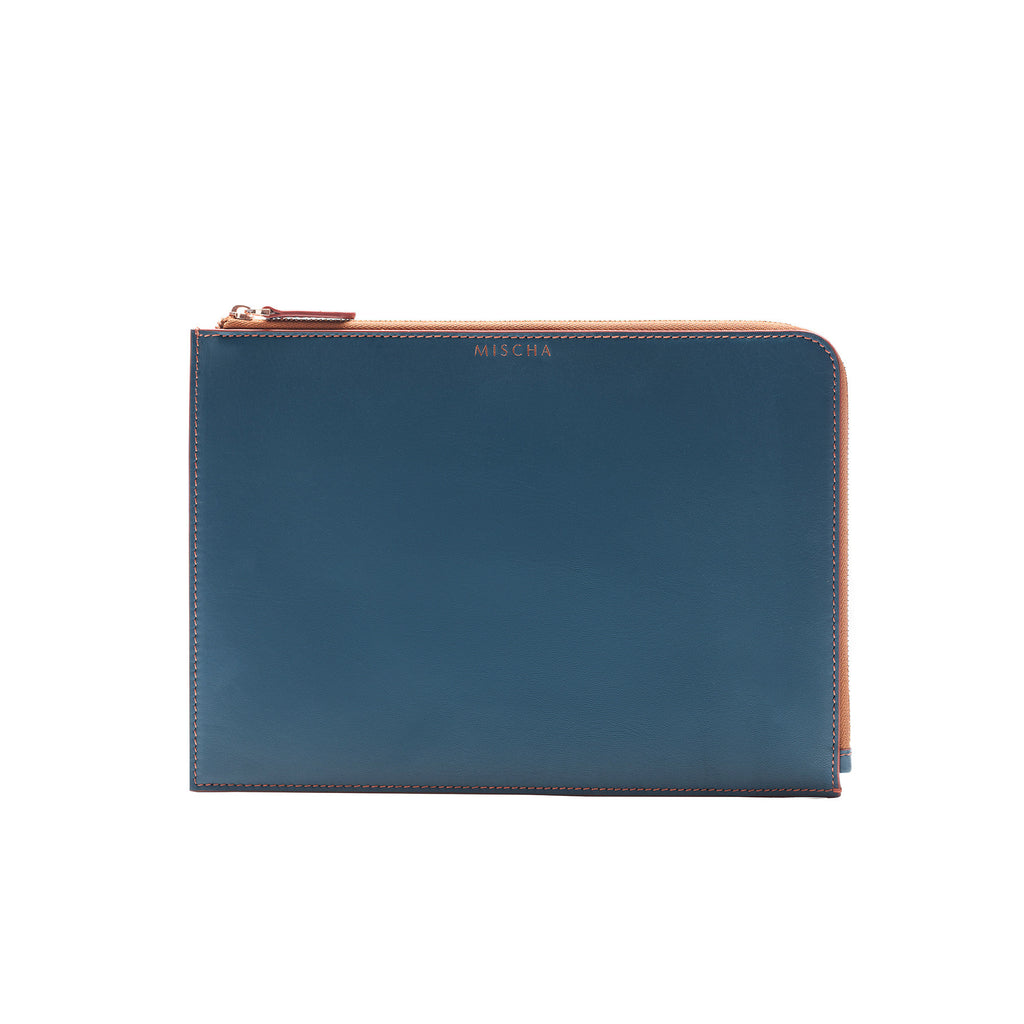 MISCHA Leather Folio Pouch - Fern