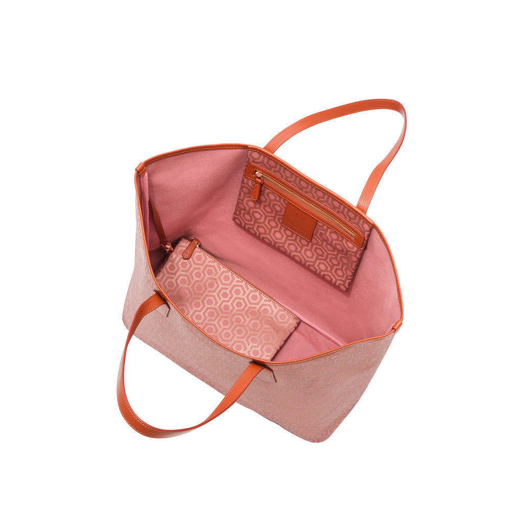 MISCHA Jet Set Tote - Rose (open)