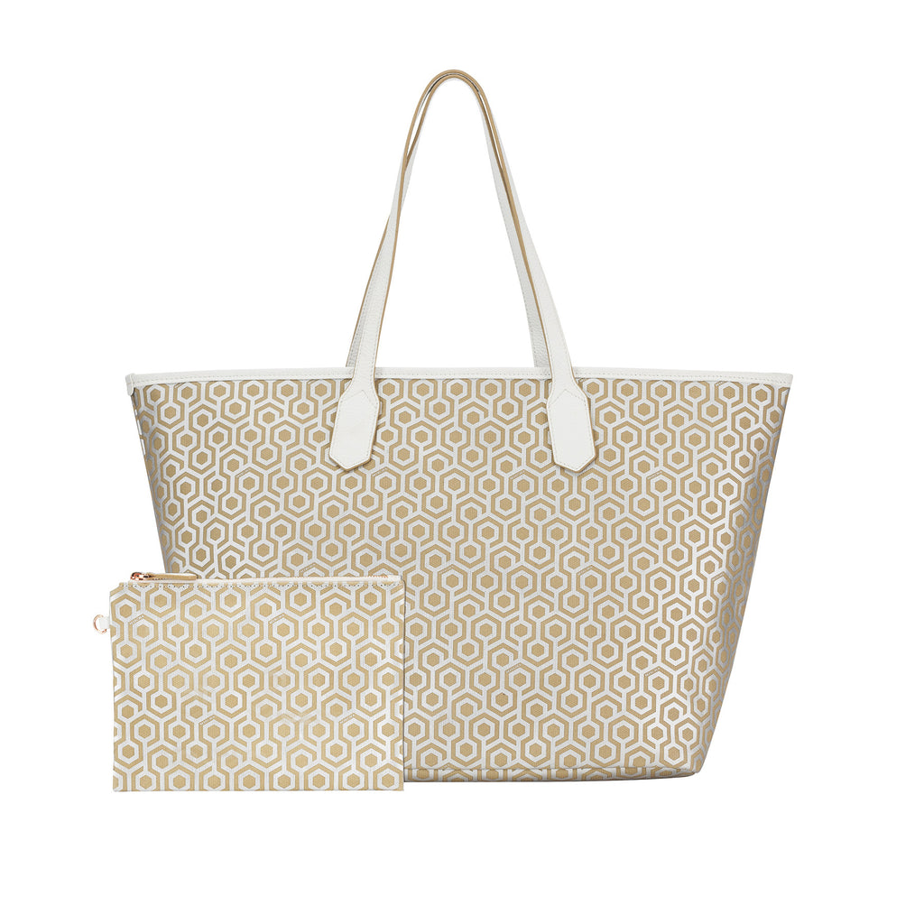 MISCHA Jet Set Tote - Stone (with pouch)