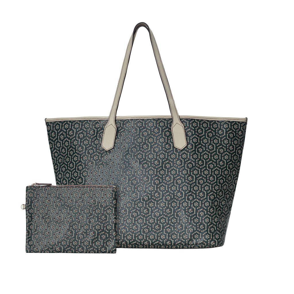 MISCHA Jet Set Tote - Mahogany (with pouch)