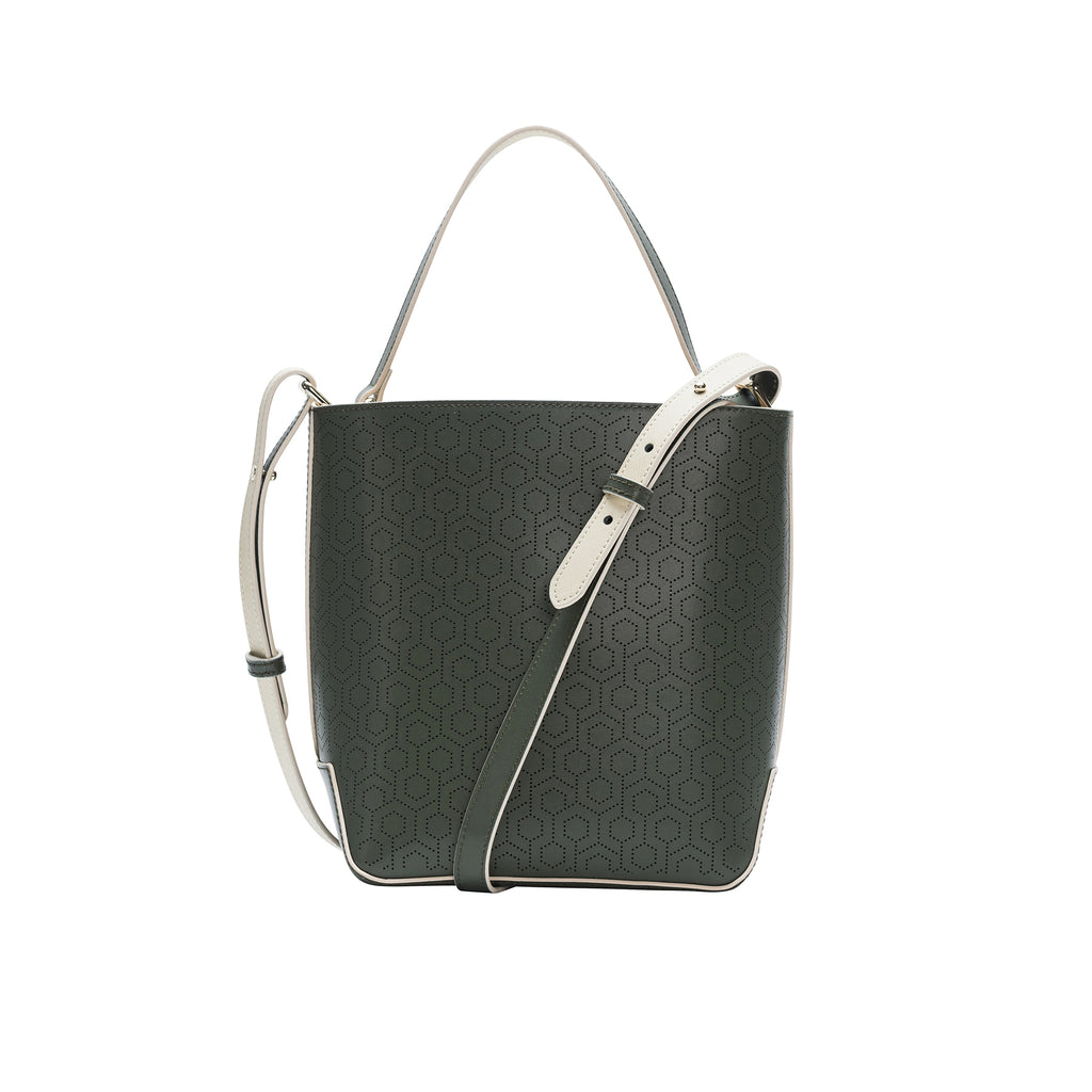 MISCHA Leather Bucket Bag - Ash
