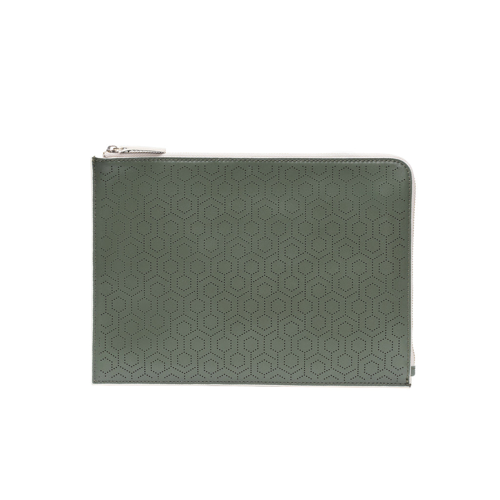 MISCHA Leather Folio Pouch - Ash