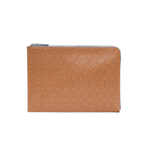 Leather Folio Pouch - Ash
