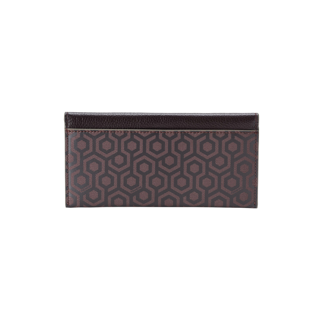 MISCHA Long Wallet - Rosewood (back)