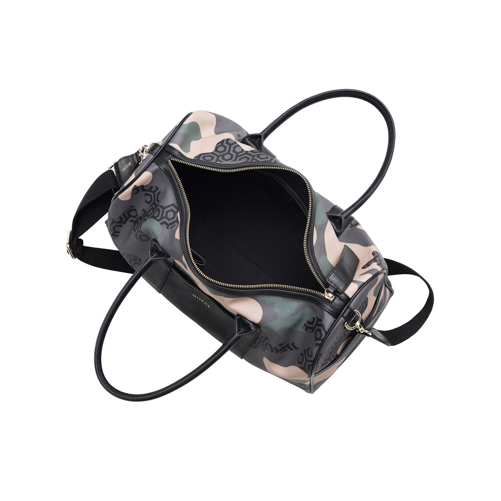 MISCHA Overnighter - Camo Green (open)