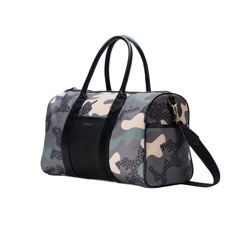 MISCHA Overnighter - Camo Green (side)