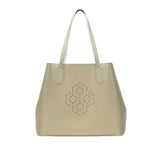MISCHA Monogram Tote - Stone (closed)