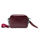 MISCHA Monogram Crossbody - Burgundy (back)