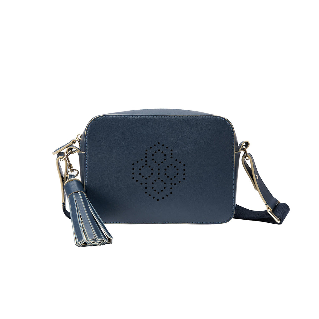 MISCHA Monogram Crossbody - Navy