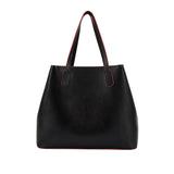 MISCHA Monogram Tote - Black (Closed)