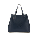 MISCHA Monogram Tote - Navy (Closed)